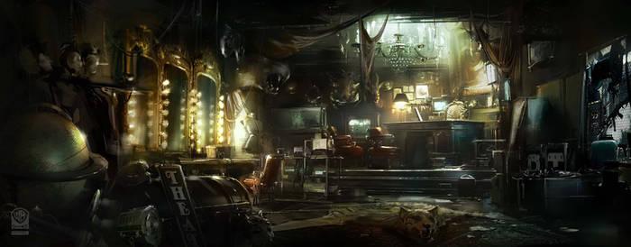 Batman Arkham Origins Penguin Office. by Gryphart