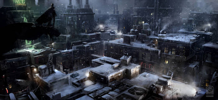 Batman Arkham Origins Arkham Rooftop.