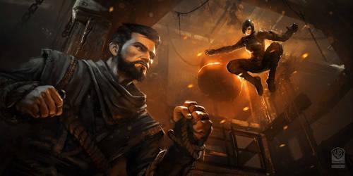 Batman Arkham Origins DLC Intiation Monastery Foun by Gryphart