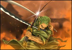 Roronoa Zoro 3 Swords by rokudaim