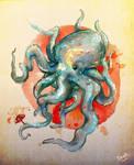 Big squid , or small umbrella? by La-DeaR