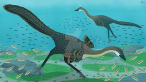 Halszkaraptor Dive (UPDATED)