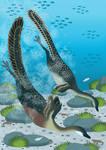 Halszkaraptor diving