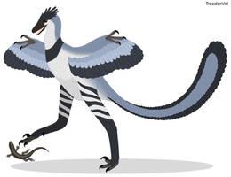 Paleo Drawing: Hesperornithoides miessleri by TroodonVet