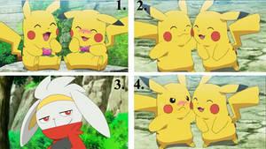 Ash pikachu x Goh pikachu