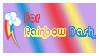 For Rainbow Dash Stamp by BOBBOBISON