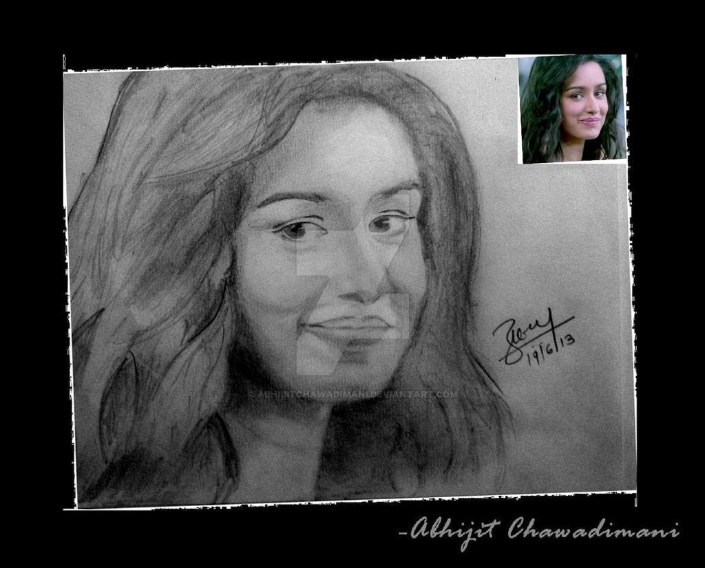 Shraddha Kapooru0026#39;S Sketch By Abhijitchawadimani On DeviantArt