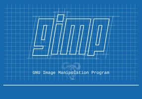 Blueprint - Gimp Splash Screen by gustawho