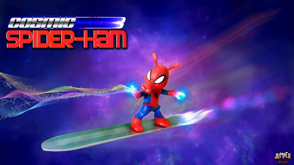 Cosmic Spider-Ham by ToddimusDesign