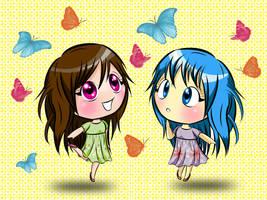 Chibi Sai and Harumi by lemonmarshmallow
