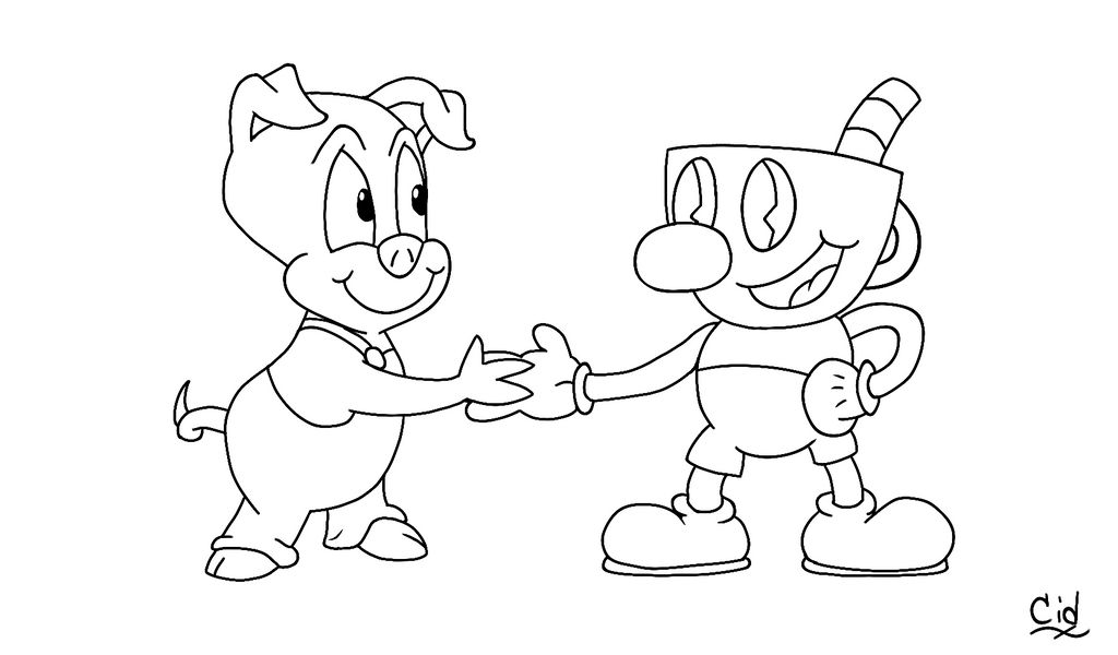 Cuphead coloring pages | Cartoon coloring pages, Coloring pages ... | 600x1024