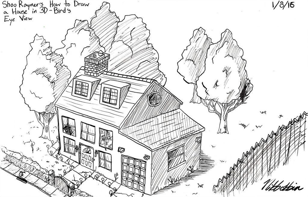Beautiful S.A.D. #8: Shoo Rayneru0027s How To Draw A House In 3D By Nibbobbin ...