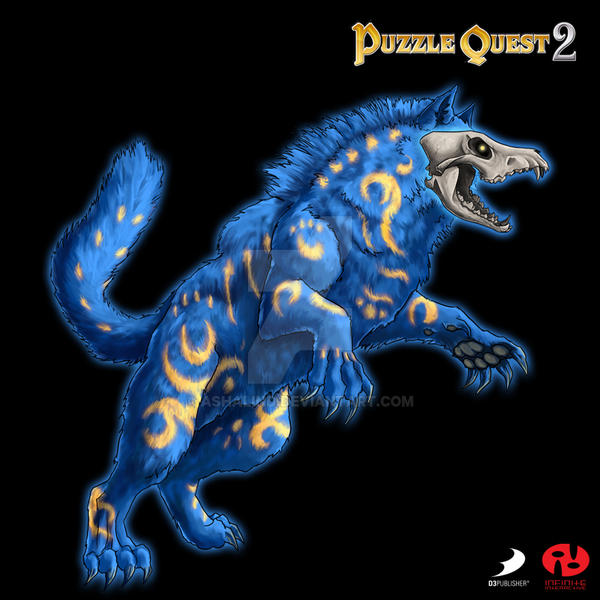 Puzzle Quest 2 - Spirit Wolf by Ashalind