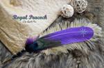 'Royal Peacock' Dip Quill Pen