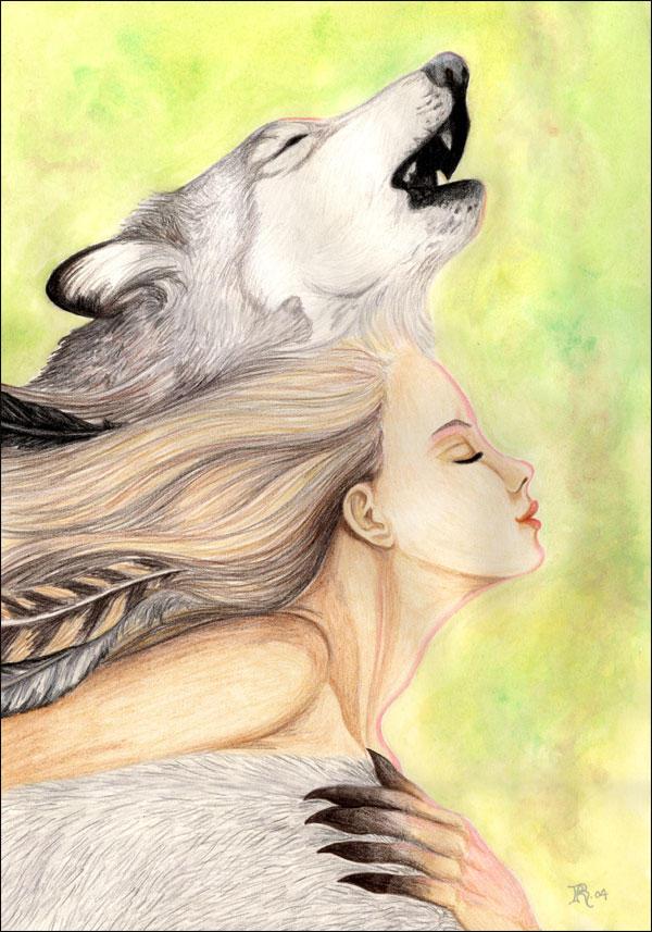 Spirit of the Wolf by Ashalind on DeviantArt