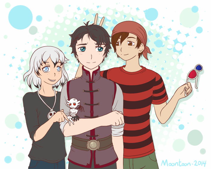 OC friends :D by Moontoon
