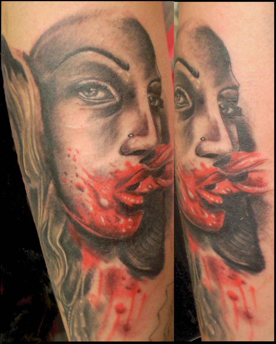 Blood tattoo by chicotattoocanoas on deviantart for Tattoos and giving blood