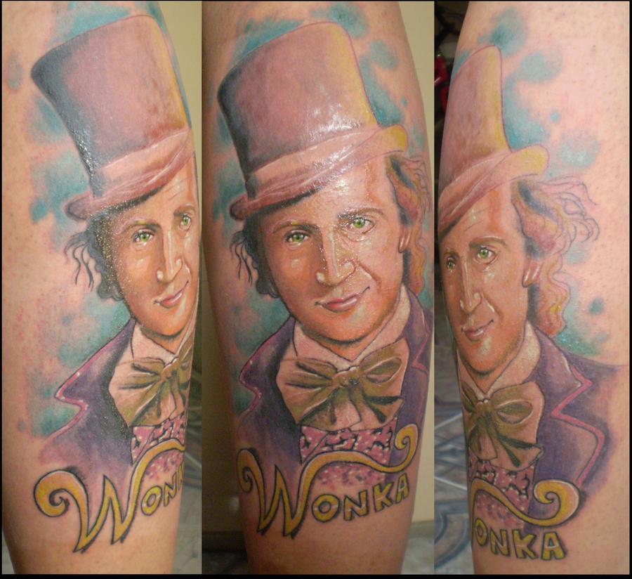 willy wonka tattoo.