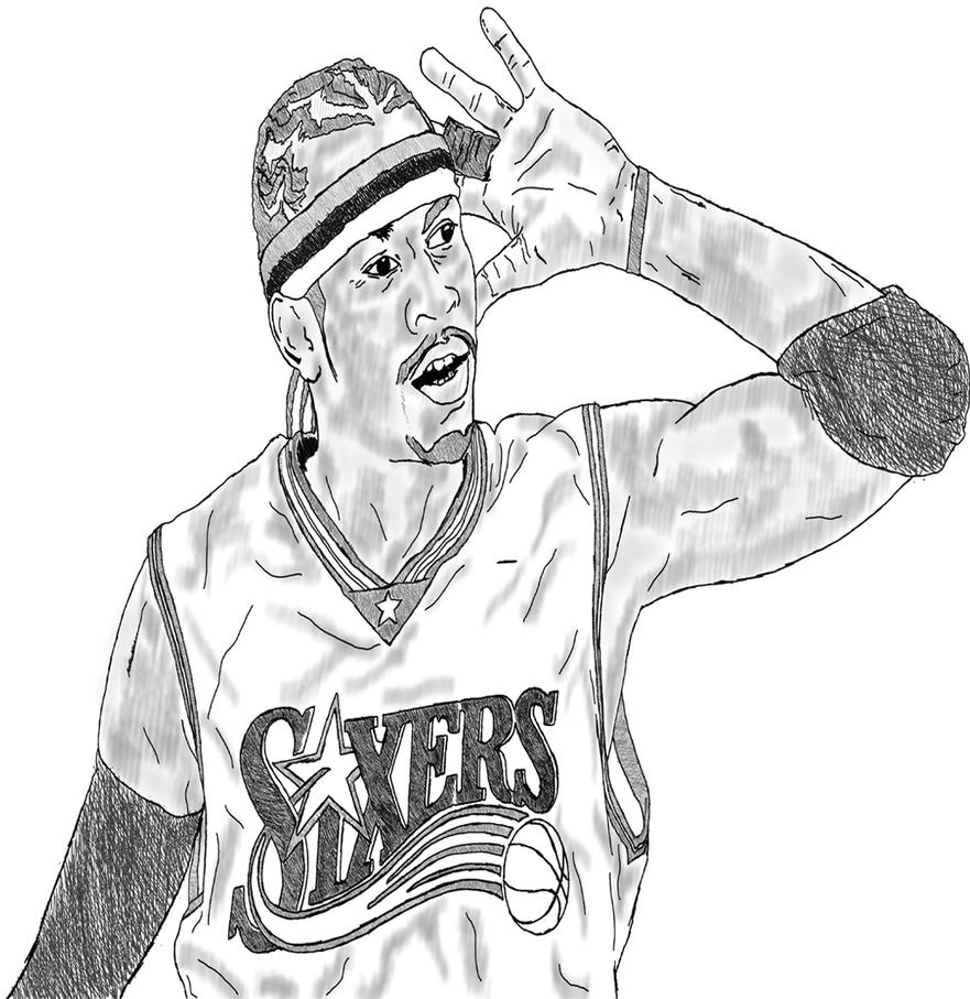 my allen iverson sketch by pinnpointdesign on deviantart lebron james coloring pages