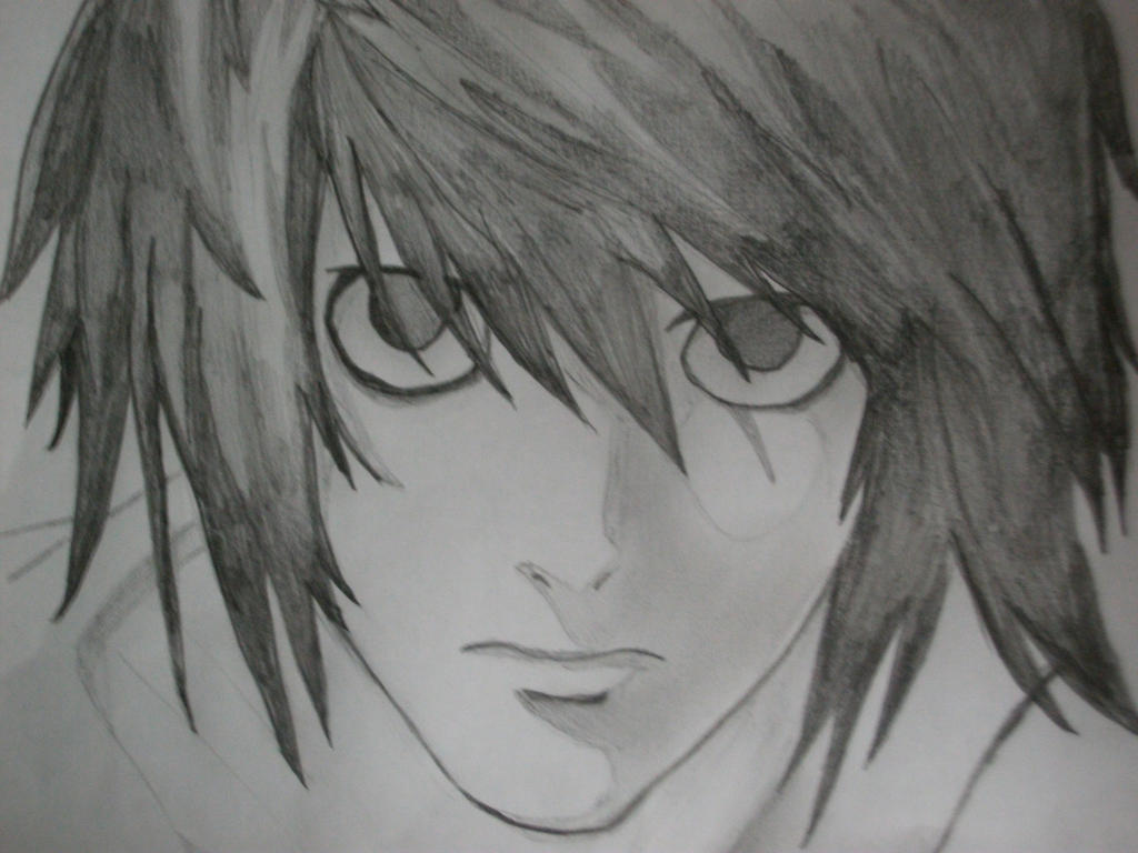 Lawliet Drawing ...L Death Note Drawing
