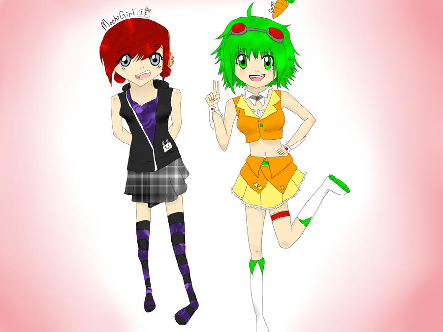 Gumi and Alyce by Kare1bear