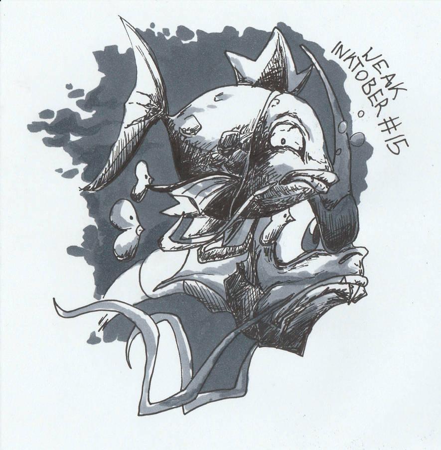 Inktober 15: Weak by JoJoDee