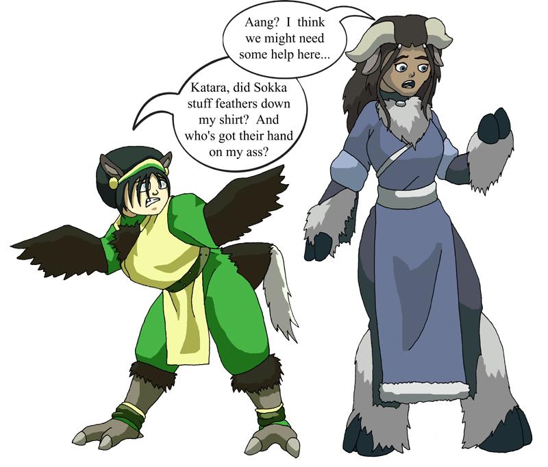 Toph and Katara by Dragonlady212 on DeviantArt