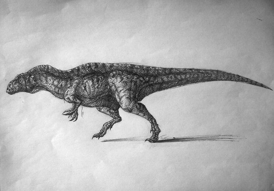 Acrocanthosaurus by Adromelek