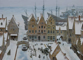 The Flemish harbour by voitv