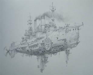 Sky battleship by voitv