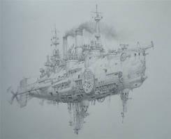 Air battleship by voitv