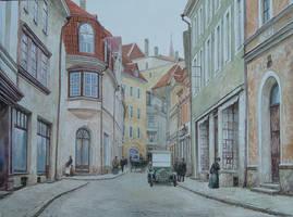 Street Pikk in Tallinn by voitv