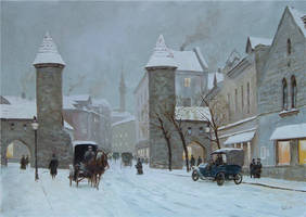 Street  in Tallinn by voitv