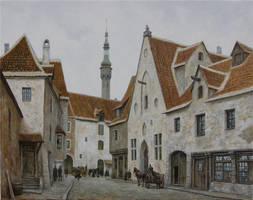 The Street of Old Tallinn by voitv