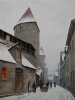 Laboratoriumi street in Old Town of Tallinn by voitv