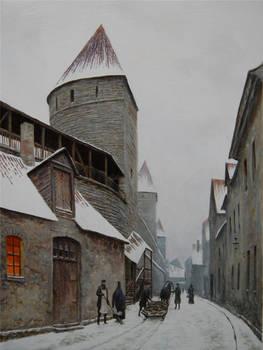 Laboratoriumi street in Old Town of Tallinn