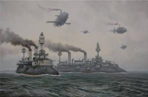 Fleet at sea