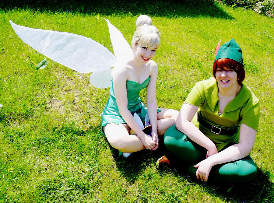 Green - Tinkerbell and Peter by Rayi-kun