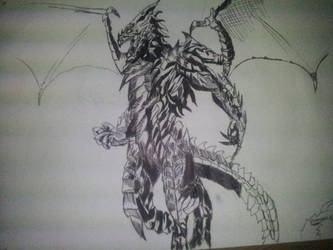 Humanoid Dragon by ironmanjae