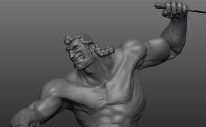 Brock VS Croc Sculpt WIP 2 by FoxHound1984