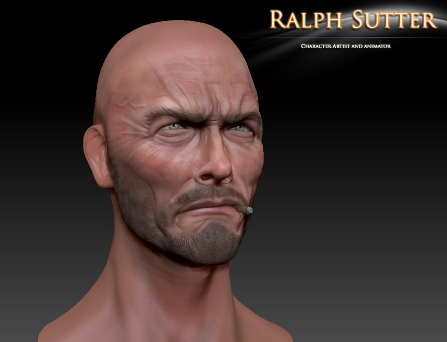 Clint 3D Model Color Test 4 by FoxHound1984