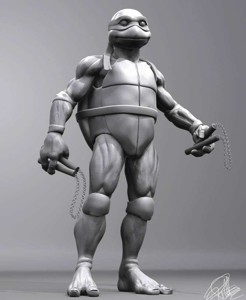 TMNT (1990 movie) - Michelangelo - 3D Model WIP by FoxHound1984 on
