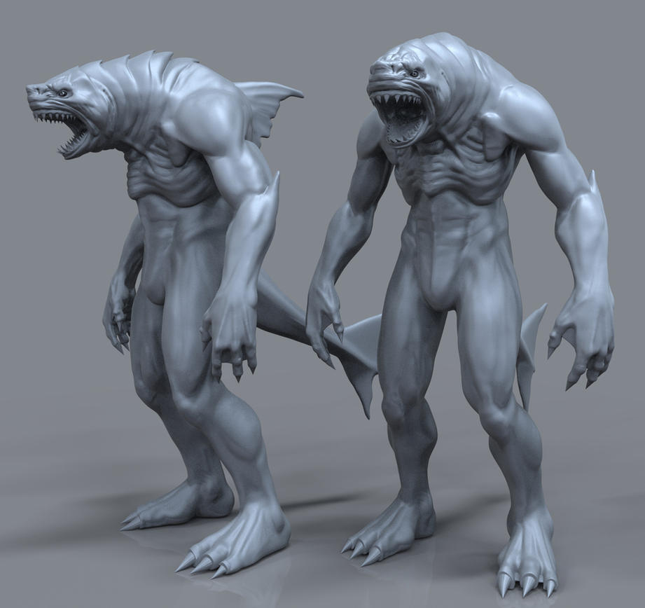 Peter Benchley's Creature 3D WIP by FoxHound1984