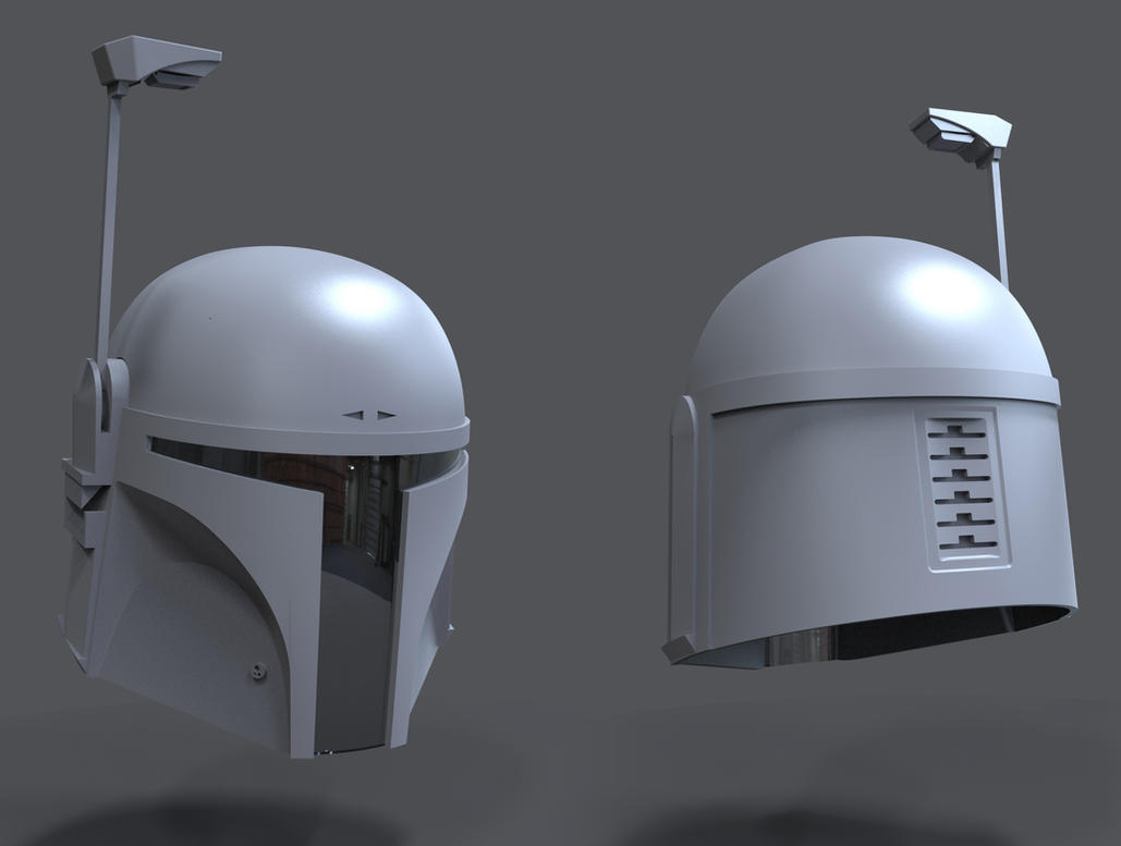 Boba Fett Helmet 3D WIP by FoxHound1984