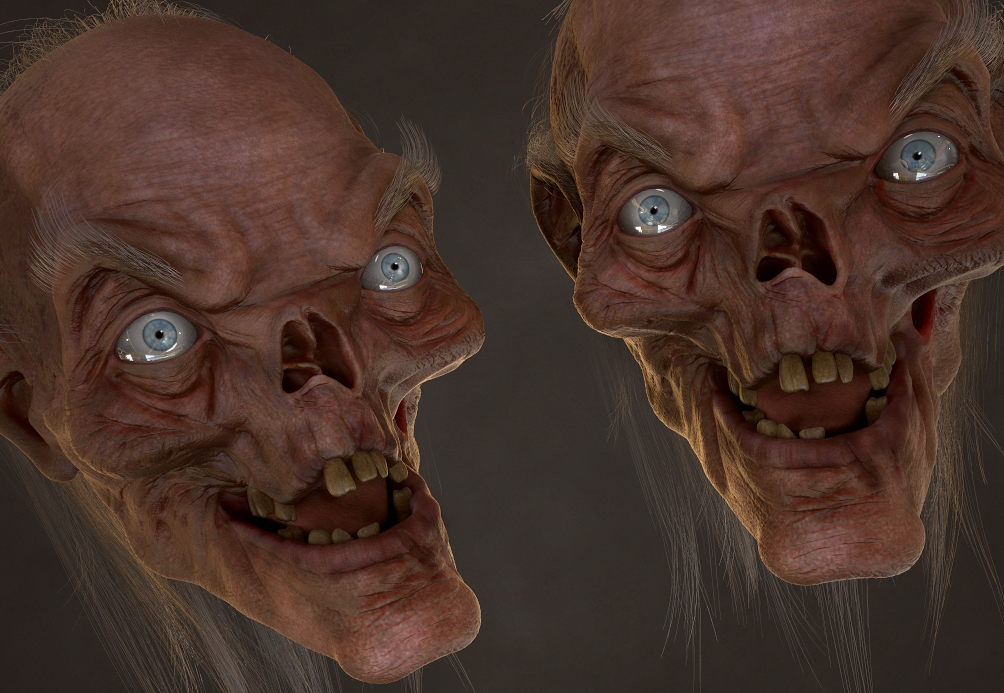 Crypt Keeper 3D Model Progress by FoxHound1984
