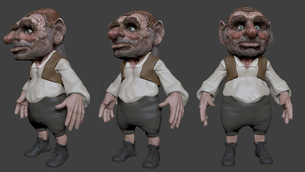 Hoggle (Labyrinth) 3D WIP by FoxHound1984