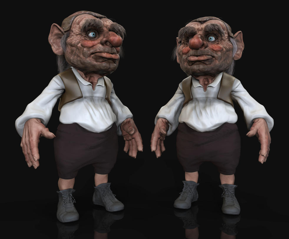 More Hoggle 3D Progress by FoxHound1984