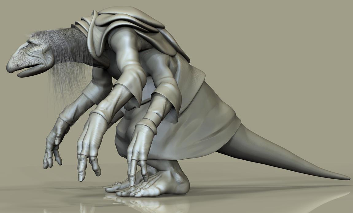 UrRu/Mystic from the Dark Crystal 3D Model WIP by FoxHound1984