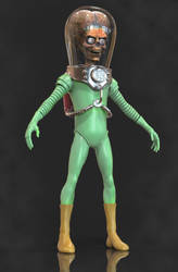 Mars Attacks 3D Model WIP