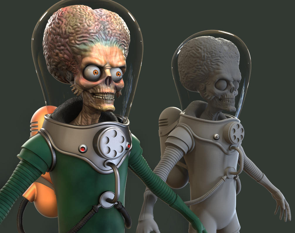 Mars Attacks 3D Model Progress Update by FoxHound1984
